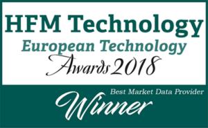 Winner - HFM European Technology Awards 2018